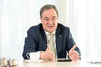 27 NOV 2020, BERLIN/GERMANY:<br /> Armin Laschet, CDU, Ministerpraesident Nordrhein-Westfalen, waehrend einem Interview, Landesvertretung Nordrhein-Westfalen<br /> IMAGE: 20201127-01-009