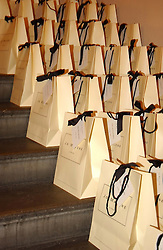 Goodie bags<br /><br />at a party to celebrate the 10th anniversary of Jo Malone the perfumer held at The Banquetting House, Whitehall, London on 21st October 2004.<br /><br /><br /><br />NON EXCLUSIVE - WORLD RIGHTS