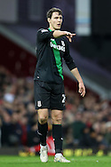 Philipp Wollscheid of Stoke City in action. Barclays Premier league match, West Ham Utd v Stoke city at the Boleyn Ground, Upton Park  in London on Saturday 12th December 2015.<br /> pic by John Patrick Fletcher, Andrew Orchard sports photography.