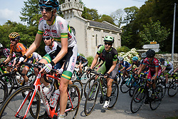 Dani King in the bunch on lap 3 at Grand Prix de Plouay Lorient Agglomération a 121.5 km road race in Plouay, France on August 26, 2017. (Photo by Sean Robinson/Velofocus)