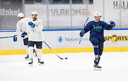 "Ken Ograjensek during practice session of Slovenian Ice Hockey National team before ""Beat Covid-19 Ice Hockey Tournament"", on May 12, 2021 in Hala Tivoli, Ljubljana, Slovenia. Photo by Vid Ponikvar / Sportida"
