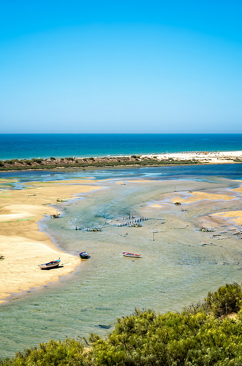 Boats, the Beach & the Channel at Cancel Velha, Portugal