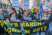 The march heads off from outside the US Embassy - Women's March on London - a grassroots movement of women has organised marches around the world to assert the 'positive values that the politics of fear denies' on the first day of Donald Trump's Presidency. Their supporters include: Amnesty International, Greenpeace, ActionAid UK, Oxfam GB, The Green Party, Pride London, Unite the Union, NUS, 50:50 Parliament, Stop The War Coalition, CND.
