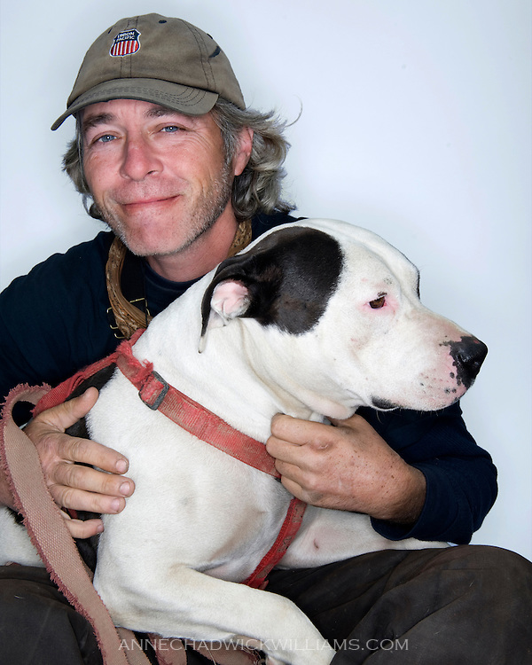 Homeless and their pets at Loaves & Fishes, a Sacramento charity to help the homeless.