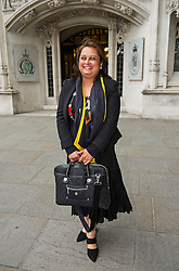 © Licensed to London News Pictures. 08/06/2015. London, UK. VARSHA GOHIL leaving the supreme court together, where a Supreme Court justice heard the latest round of a multi-million pound divorce cases. . Photo credit: Ben Cawthra/LNP