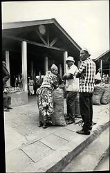 Jul. 07, 1975 - Kamplasy Uganda. Shots in Kampala streets of the New Oau cloth dresses being used by the Ugandans. Portraits of Idi Amin are printed on all the news dresses. (Credit Image: © Keystone Press Agency/Keystone USA via ZUMAPRESS.com)