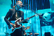 Radiohead performing at the Scottrade Center in St. Louis on March 9, 2012.