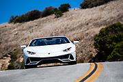 August 15, 2019:  Monterey Car Week, Lamborghini Huracan Evo spyder