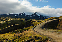 The F570 road which heads up the east side of Snæfellsjökull volcano is quite steep and rough. I couldn't drive it with my rental car so I walked it instead.