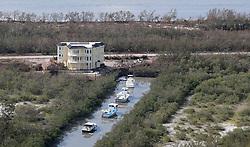 September 14, 2017 - Duck Key, Florida, U.S. - Some boats were spared after Hurricane Irma hit the Florida Keys.  (Credit Image: © Sun-Sentinel via ZUMA Wire)