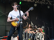Rob Ellis and Jake Leff of British indie-rock band Cassia at the Open Ohr Festival