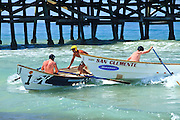 San Clemente Dory Boats Races At The Pier