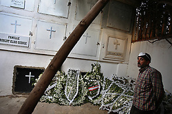 The remains of ten Lebanese soldiers are returned to their families and laid to rest, Beirut, Lebanon, March 18, 2006. The soldiers received military honors after being identified through DNA testing. Families of the missing soldiers fought for information about their fate since they went missing during a battle with the Syrians over 15 years ago. The families were clinging to hope that the soldiers may have been transferred to Syrian prisons after battle. All of the soldiers were Christian.