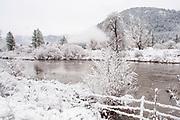Black Oaks, Indian Creek, Genesee Valley Ranch, Sierra Nevada Mountains, Genesee, California Mountains, Winter Scenes, Mountain Ranch, Mountain Valley Living, fresh snow, barbed wire fence