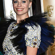 Margot Robbie Arrivers at EE British Academy Film Awards in 2019 after-party dinner at Grosvenor house on 10 Feb 2019.