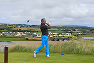 Pat Murray (Limerick) on the 9th tee during Matchplay Round 1 of the South of Ireland Amateur Open Championship at LaHinch Golf Club on Friday 22nd July 2016.<br /> Picture:  Golffile | Thos Caffrey<br /> <br /> All photos usage must carry mandatory copyright credit   (© Golffile | Thos Caffrey)