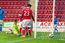 St Johnstone's James McFadden first goal.<br /> St Johnstone 2 v 1 Ross County, Scottish Premiership 22/11/2014 at St Johnstone's home ground, McDiarmid Park.