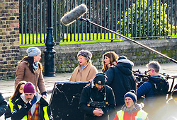 © Licensed to London News Pictures. 29/01/2019. Kent, UK. Come actresses Aisling Bea, Sorcha Cusack and Sharon Horgan take part in filming for a new sitcom titled Happy AF, written by  Aisling Bea. Photo credit: Graham Long/LNP