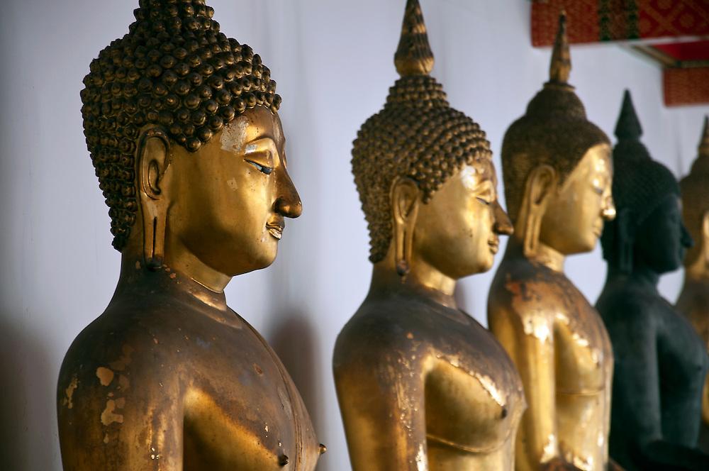 Buddha faces, Bangkok, Thailand.
