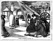 Invasion of privacy by a seaside camera obscura (left). George du Maurier cartoon from 'Punch', 17 October 1868