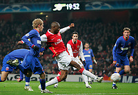 Photo: Tom Dulat/Sportsbeat Images.<br /> <br /> Arsenal v Steaua Bucharest. UEFA Champions League. 12/12/2007.<br /> <br />  Arsenal's Abou Diaby scores opener of the game. Arsenal leads 1-0