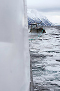 On the ship Sula, Moere coastline, Norway<br /> Model release by photographer