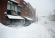 Feb 10,2010 - Herndon, Va USA - The aptly named Ice House Cafe and Oyster bar is frosted over during the blizzard conditions in historic Herndon, Virginia on Wednesday.(Credit Image: ©Pete Marovich/ZUMA Press)
