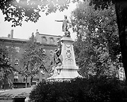 0613-B044. Jean de Rochambeau statue in Lafayette Park, 16th & Pennsylvania NW. Washington, DC, 1922