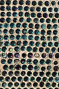 A recycled glass bottle wall in Rhyolite, NV.