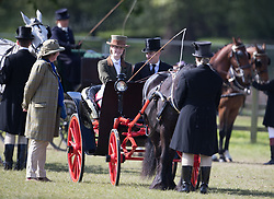 Lady Louise Windsor (centre) leads the Champagne Laurent-Perrier Meet of the British Driving Society at the Royal Windsor Horse Show, which is held in the grounds of Windsor Castle in Berkshire.