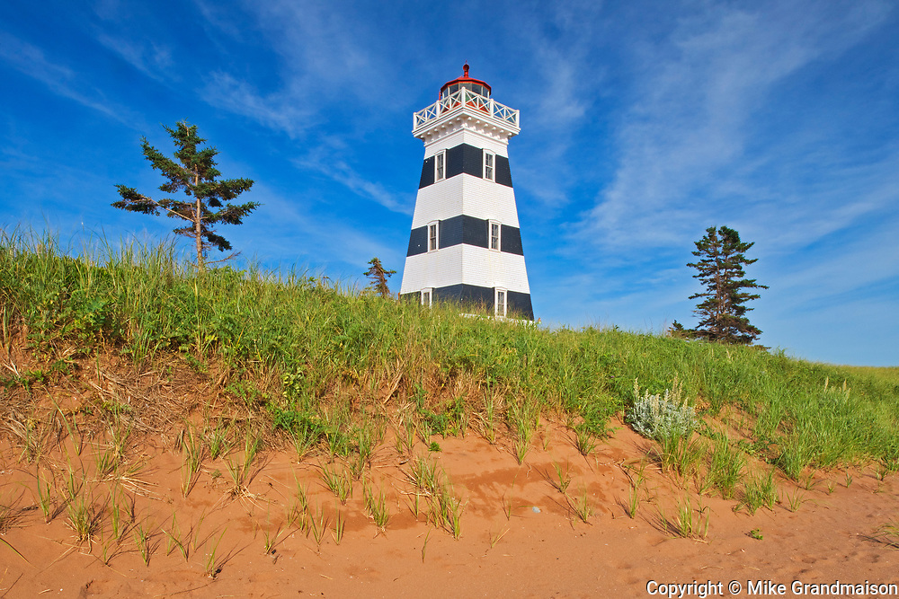 West Point Lighthouse and red sand<br />West Point<br />Prince Edward Island<br />Canada