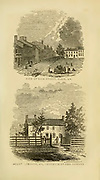 Main street, Paris, KY (top) and Mount Lebanon KY, residence of Gov. Gerrard from Bottom the book ' Historical Sketches Of Kentucky (1847) ' ITS HISTORY, ANTIQUITIES, AND NATURAL CURIOSITIES, GEOGRAPHICAL, STATISTICAL, AND GEOLOGICAL DESCRIPTIONS. WITH ANECDOTES OF PIONEER LIFE By Lewis Collins. Published by Lewis Collins, Maysville, KY. and J. A. & U. P. James Cincinnati. in 1847