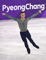 February 17, 2018 - Pyeongchang, South Korea - ADAM RIPPON of the United States competes his long program at the Mens Figure Skating event Saturday, February 17, 2018 at the Gangneung Ice Arena at the Pyeongchang Winter Olympic Games.   (Credit Image: © Mark Reis via ZUMA Wire)