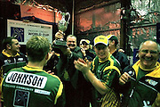 Rod (Rocket) Chilcott, Manager of the Australian Men, holds the Indoor Cricket World Cup trophy.<br /> 2002 Indoor Cricket World Cup, Wellington, New Zealand