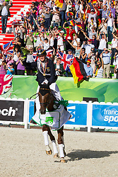 Sandra Auffarth, (GER), Opgun Louvo World champion in the indvidual Eventing - Alltech FEI World Equestrian Games™ 2014 - Normandy, France.<br /> © Hippo Foto Team - Leanjo De Koster<br /> 31-08-14