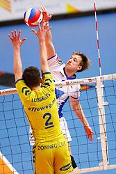 20150426 NED: Eredivisie Landstede Volleybal - Abiant Lycurgus, Zwolle<br />Chris Voth (9) of Abiant Lycurgus<br />©2015-FotoHoogendoorn.nl / Pim Waslander
