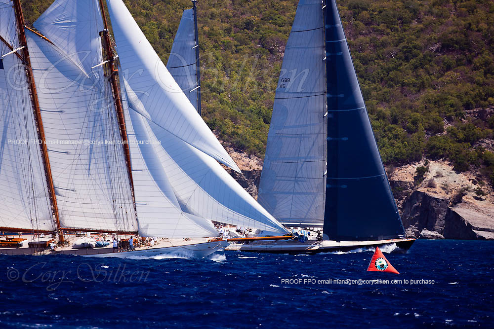 Elena of Londonl sailing during the St. Barth's Bucket 2011 race 1.