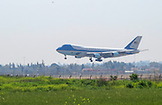 US president Barack Obama lands in Israel on Air Force One; at Ben Gurion international airport. March 20, 2013