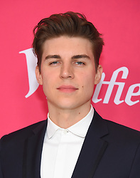 February 19, 2019 - Beverly Hills, California, U.S. - Nolan Gerard Funk arrives for the 21st CDGA (Costume Designers Guild Awards) at the Beverly Hilton Hotel. (Credit Image: © Lisa O'Connor/ZUMA Wire)