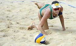17-07-2014 NED: FIVB Grand Slam Beach Volleybal, Apeldoorn<br /> Poule fase groep G vrouwen - Agatha Bednarczuk BRA