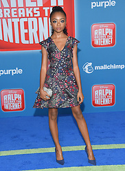 November 5, 2018 - Hollywood, California, U.S. - Skai Jackson arrives for the 'Ralph Breaks the Internet' World Premiere at the El Capitan theater. (Credit Image: © Lisa O'Connor/ZUMA Wire)