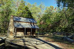 John Oliver Cabin in Cades Cove, Great Smoky Mountains National Park, Townsend Tennessee.