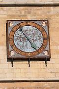 clock on cathedral santa maria de regla , Leon spain castile and leon