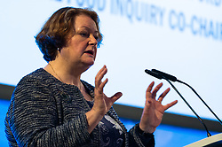 Dr Philippa Whitford MP (SNP Central Ayrshire) addresses the audience at the launch of the Children's Future Food Inquiry at Church House in Westminster. London, April 25 2019.