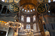 The Hagia Sofia in Istanbul, originally built by Emperor Justinian stood as the largest world cathedral for more than a thousand years, before being converted into a mosque and, now, a museum...Istanbul 7 June 2012