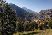 A view of Sotres, just down from the village of Tresviso, in the Picos de Europa national park, a hamlet famous for its goat's cheese.