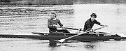 Staines, GREAT BRITAIN,   <br /> GBR W2-, Bow Karen MARWICK and Fiona FRECLEKTON<br /> British Rowing Women's Heavy Weight Assessment. Thorpe Park. Sunday 21.02.1988,<br /> <br /> [Mandatory Credit, Peter Spurrier / Intersport-images] 1987 GBR Women's H/Weight Assesment Thorpe Park, Surrey.UK
