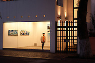 Barranco, art galleries. . Wu gallery, view from the street