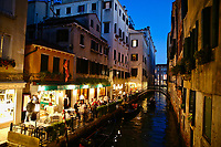 Venice, the capital of northern Italy's Veneto region, is built on more than 100 small islands in a lagoon in the Adriatic Sea. It has no roads, just canals – including the Grand Canal thoroughfare – lined with Renaissance and Gothic palaces. The central square, Piazza San Marco, contains St. Mark's Basilica, which is tiled with Byzantine mosaics, and the Campanile bell tower  photo by David Court