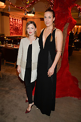 Left to right, HOLLIDAY GRAINGER and MARY ALICE MALONE at the unveiling of a Very Special Malone Souliers Christmas Tree, In Support Of Starlight Children's Foundation held at The Club Cafe Royal, Regent Street, London on 2nd December 2015.